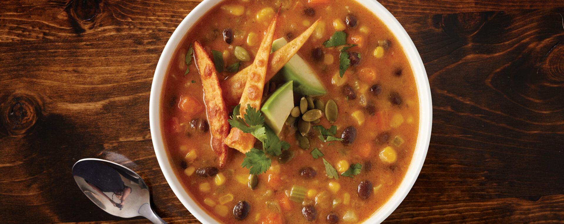 Creamy Pumpkin Tortilla Soup Recipe