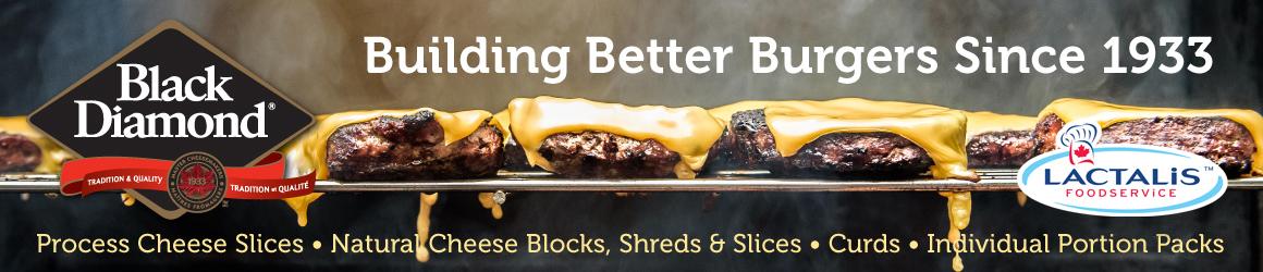 Black Diamond. Building Better Burgers Since 1933.
