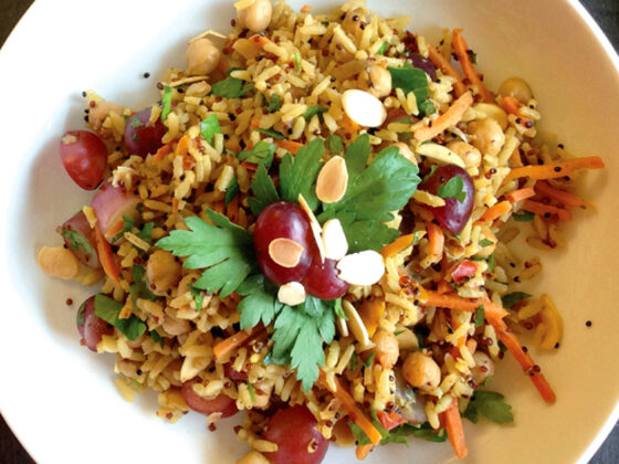 Moroccan Pilaf Brown Rice and Quinoa
