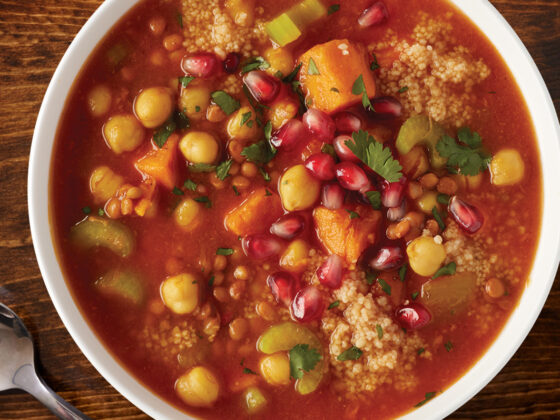Sweet Potato and Chickpea Moroccan Stew
