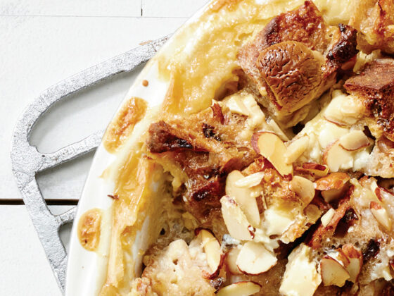White Chocolate and Cardamom Bread Pudding Recipe