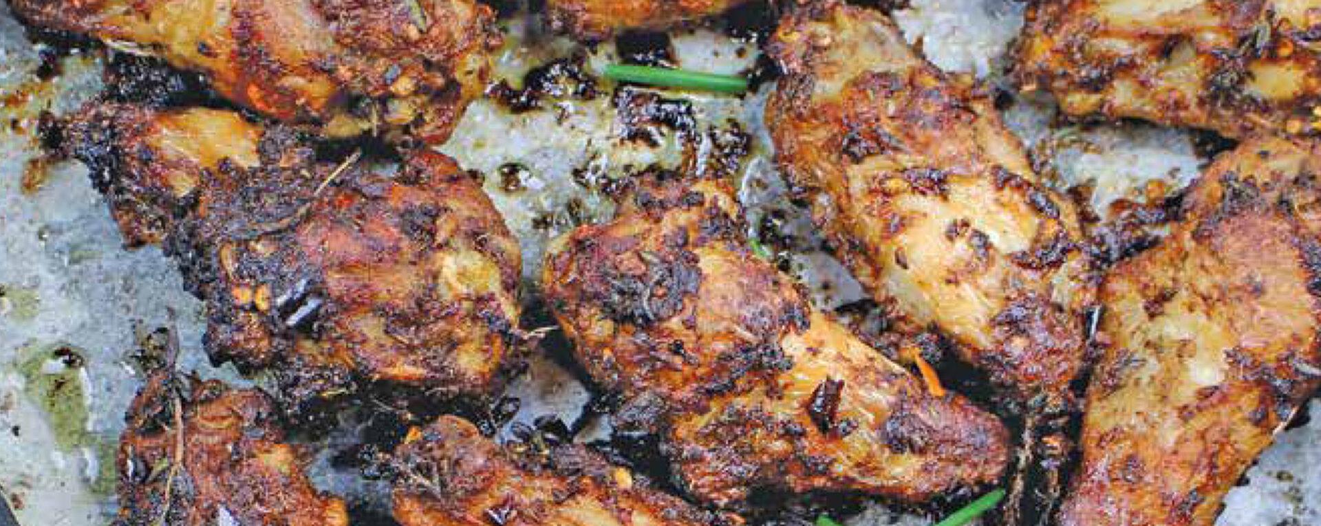 Baked Jamaican Jerk Chicken Wings