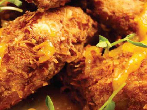 Coconut Breaded Chicken Wings with Mango Chili Glaze Recipe