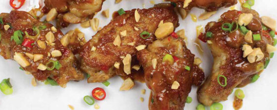 Pan Fried Thai Peanut Chicken Wings Recipe