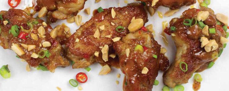 Pan Fried Thai Peanut Chicken Wings Recipe