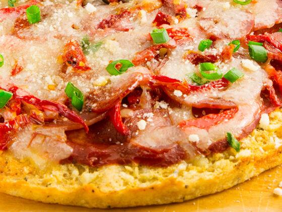 Potato crust recipe for gourmet pizza