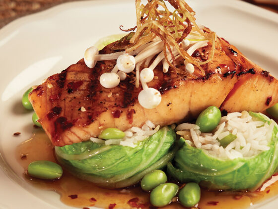 Sweet Sesame Soy Grilled Salmon