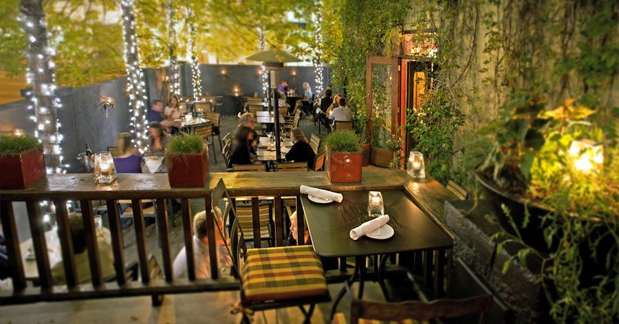 Restaurant with patio