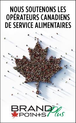 Nous soutenons les opérateurs Canadiens de service alimentaires. Brand Points Plus.