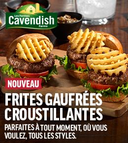 Nouveau Cavendish Frites Gaufrées Croustillantes