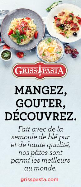 Griss Pasta. Mangez, gouter, découvrez.