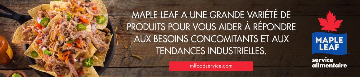 Maple Leaf a grande variété de produits pour aider à répondre aux besoins concomitants et aux tendances industrielles.