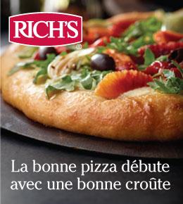 Rich's. La bonne pizza débute avec une bonne croûte.