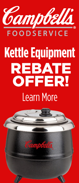 Campbell's Foodservice Kettle Equipment Rebate Offer