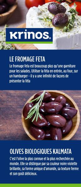 Krinos - Le Fromage Feta et Olives Biologiques Kalmata