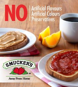 Smucker's - No Artificial Flavours, No Artificial Colours or Preservatives