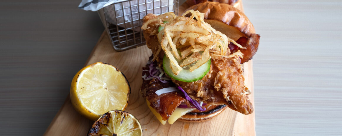 Dublin-Guinness Battered Cod Sandwich recipe