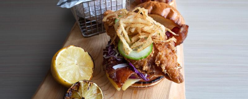 Dublin-Guinness Battered Cod Sandwich recipe