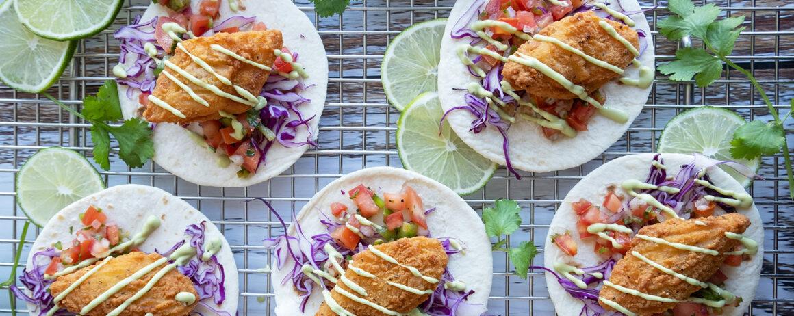 Stout Battered Fish Tacos recipe