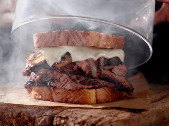 Smoke flavour menu restaurant
