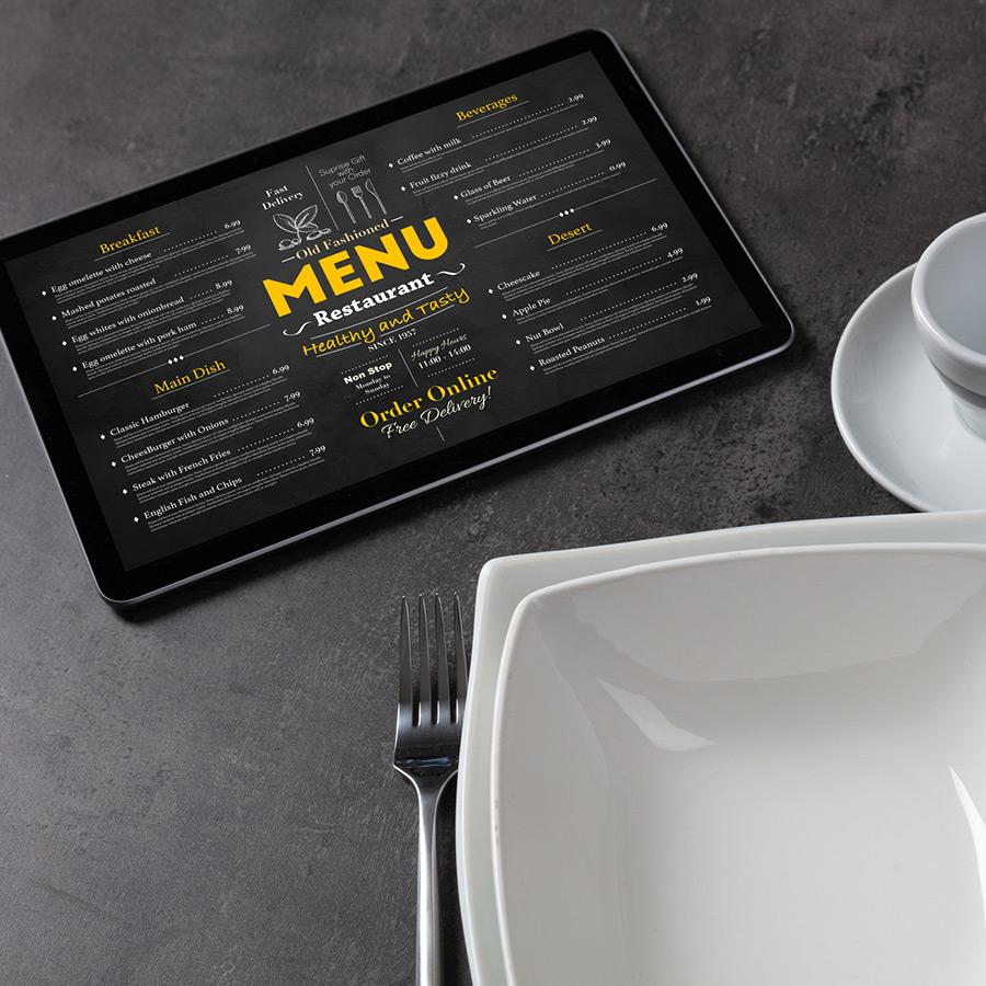 Online menus