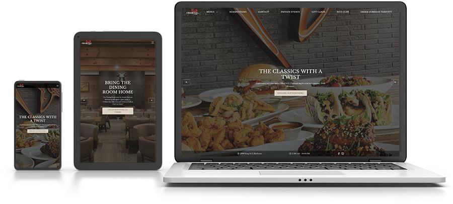 Customizable websites for restaurants