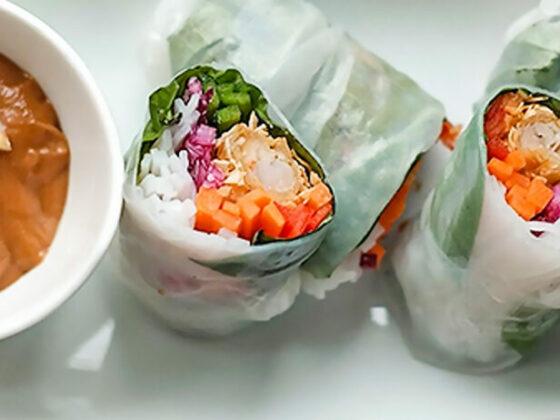 Rouleaux de salade aux Crevettes Tiki Island