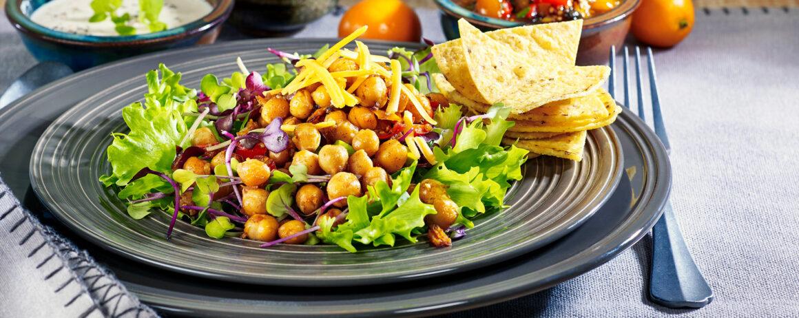 Salade pour taco aux pois chiches