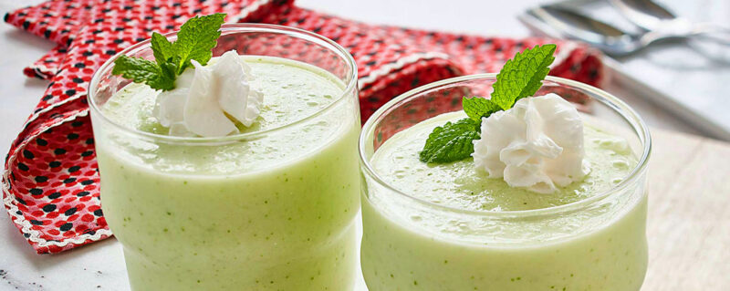 Honeydew and Coconut Frappé