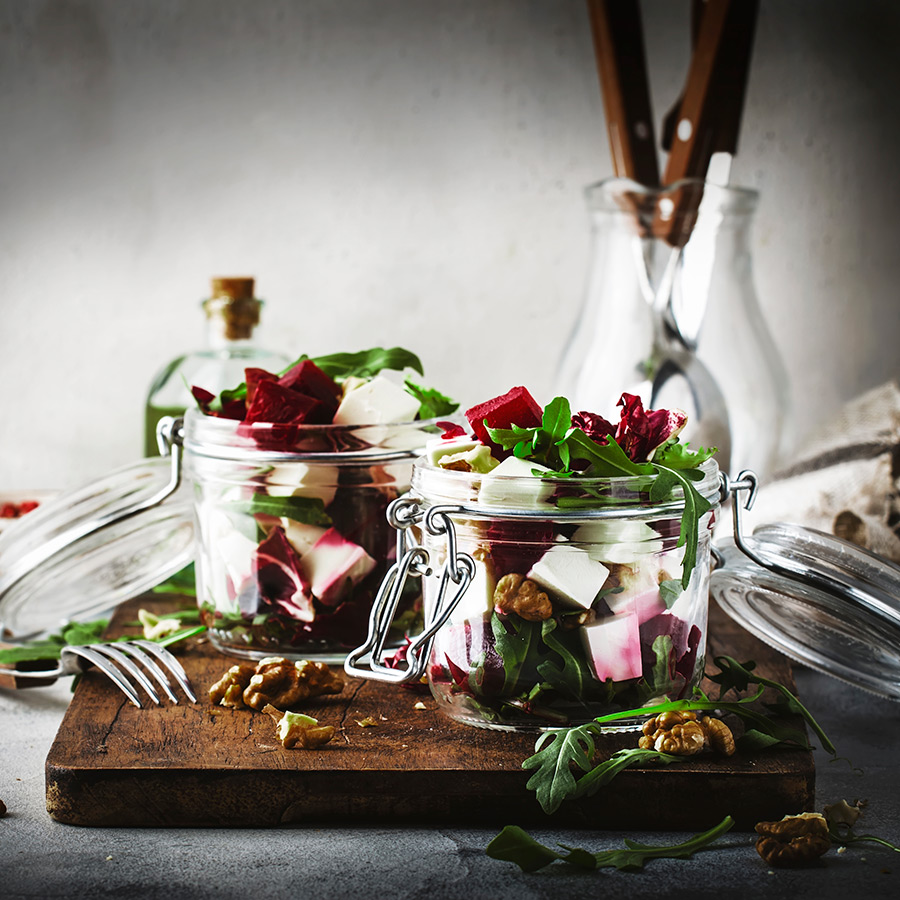 Cheese and Beetroot Salad